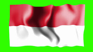 Flag Of Indonesia Image Indonesia Waving Flag Green Screen Animation Youtube