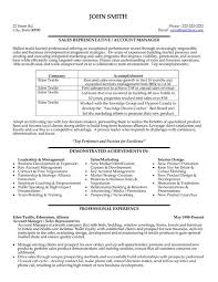 sle resume for key accounts manager roles in organization a resume template for a sales representative or account manager