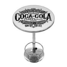 coca cola brazil 1886 vintage logo pub table by trademark gameroom