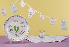 baby shower autograph plate ooh baby baby shower favor and party ideas