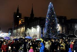 aberdeen s christmas tree arrives in city after 321 mile trip