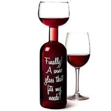 novelty wine glasses gifts wine bottle glass 25 4 oz 750ml drinkstuff
