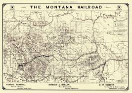 Old United States Map by Old Railroad Map Montana Railroad 1899