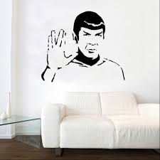 film tv theter decal wall stickers shop home spock decal wall sticker