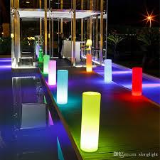 multi color led landscape lighting waterproof multi color height36 cm led small tower pillar floor l