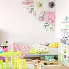 Monkey Nursery Decals Boho Flowers Corner Wall Decal U2013 Ginger Monkey