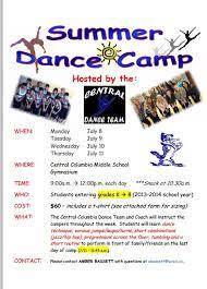 dance flyer template word 12 free summer camp flyer templates