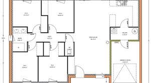 plan plain pied 4 chambres plan maison 4 chambres plan maison chambres m with plan maison 4