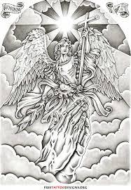 archangel michael killer back design ink d up