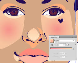 a quick lesson on using different skin tones in portrait illustration