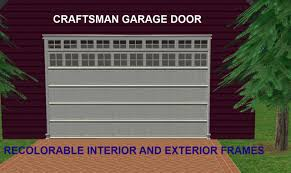 mod the sims maxis matrix craftsman garage door with recolorable