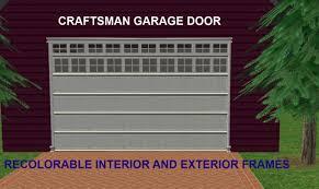 Exterior Garage Door by Mod The Sims Maxis Matrix Craftsman Garage Door With Recolorable