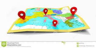 Map Pins Europe Map Pins Travel Stock Photo Image 73160296