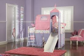 bedroom sweet pink girls loft bed with drawers and trundle for castle theme purple girls loft bedwith rug and