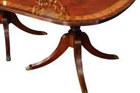 double pedestal dining table with leaf zenboa
