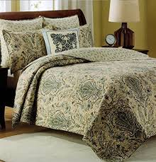 Quilted Cotton Coverlet Tahari Home Cotton 3 Piece King Quilt Set Reversible Stripes Gray