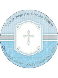 communion cake toppers edible icing cake topper 7 5 holy communion blue
