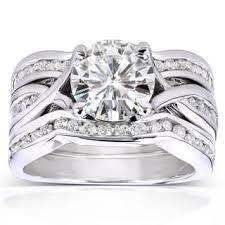 moissanite wedding sets wedding ring sets moissanite rings shop the best deals for nov