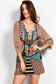 tribal dress vintage tribal print sheer shift dress oasap