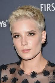 plain hair cuts for ladies over 80years old halsey at delta air lines official grammy event in los angeles 02