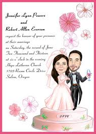personalized wedding invitations custom pink floral and photo cake wedding invitations ewui009 as
