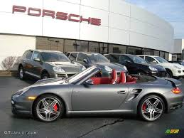 grey porsche 911 turbo 2009 meteor grey metallic porsche 911 turbo cabriolet 1631683