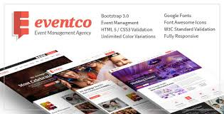 eventco event management agency responsive template by crunchpress