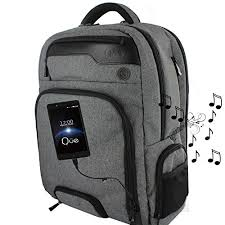 laptop charging station jambag powerbag backpack by que bluetooth speakers charging