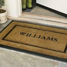 Interior Door Mats Personalized Rubber Coir Picture Frame Doormats Williams Sonoma