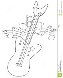 electric guitar coloring page stock illustration image 52718548