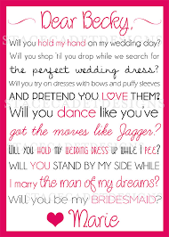 Wedding Quotes Maid Of Honor Custom Printable Will You Be My Bridesmaid Or Maid Of Honor Card