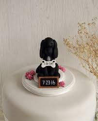 black cocker spaniel cake topper dog cake topper dog