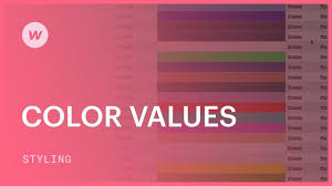 color values hex rgba and color names webflow css tutorial