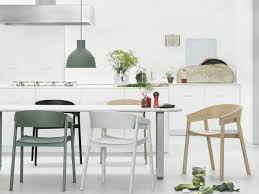 dining room scandinavian dining space with cozy dining table white