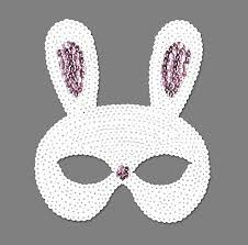 masks for kids white silver sequined rabbit eye mask for kids adults