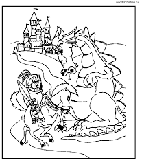 knight dragon coloring pages coloring