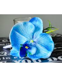 Blue Orchid Corsage Orchid Royal Blue And White Roses U0026 Diamante Ready To Ship Silk