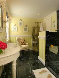 black tile bathroom ideas colorful bathrooms from hgtv fans hgtv
