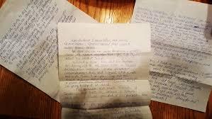 the one who wrote back u2022 jim landwehr u2014 handwritten