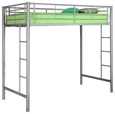 metal twin loft bunk bed silver contemporary loft beds by