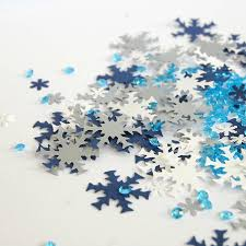 frozen or copper snowflake christmas table confetti by