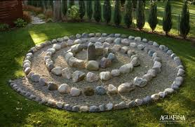 groovy yellow then rock garden design decorated with green