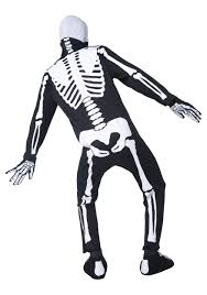 Skeleton Suit Halloween by Mens Gothic Manor Graveyard Bones Costume