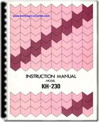 finding knitting machine manuals