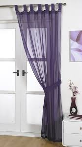 voile panels u0027opaque u0027 aubergine tab top curtain panel