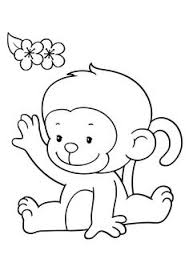 baby monkey face template monkey face