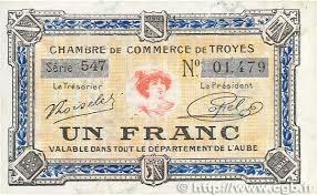 chambre de commerce troyes 1 franc régionalisme et divers troyes 1918 jp 124 14