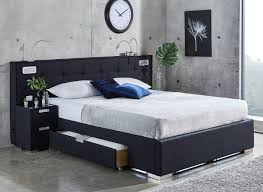 Bed by Bed With Tv In Footboard Home Source Luxury Faux Leather Lcdled