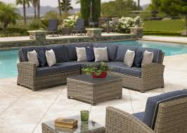 Custom Patio Furniture Cushions by Coast Bainbridge 4 Piece Custom Outdoor Willow Wicker Patio