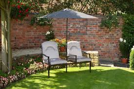 Garden Chair Seat Cushions Luxury Grey Love Seat 2 Seater Garden Bench With Deep Cushions And